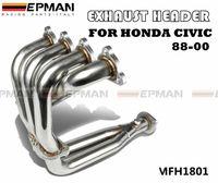 Wholesale Manifold Muffler - EPMAN-High Quality RACING MANIFOLD EXHAUST HEADER FOR HONDA CIVIC 88-00 CRX DEL SOL SOHC D16 D-SERIES EP-MFH1801