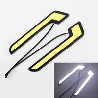Wholesale Daytime Driving - 2PCS 20W Set COB Car Led Light Bar Waterproof Ultrathin DRL Daytime Running Light Fog Driving Lamp Bright White 6000K