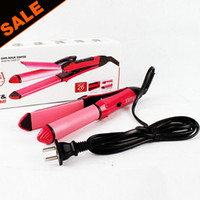 HAUTE QUALITÉ Hair Beauty Set Hairstyle Outils Céramique Straight Curly Hair Curler Curling Irons US Plug Fast Shipping