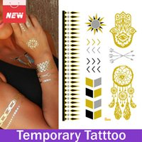 Wholesale Sexy Temporary Tattoo Sheet - 1 Sheet Sun Arrow Feather Eye Hot Tattoo Jewelry Body Art Sexy Removable Fake Temporary Tattoos Paper Stickers