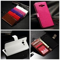 Wholesale Galaxy Ace Leather - Fashion Crazy Horse Wallet Leather For Galaxy J1 MINI,J1 ACE J110 J2 J200F J3 J300,J2 2016 Oil Photo Frame Card Skin Card Stand Purse Pouch