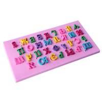 Wholesale Candy Cake Letters - Wholesale- 3D Silicone Russian Letters Cookie Mold Cyrillic Alphabet Biscuit Mould Russian Cake Mould Candy Cookie Jelly Decoration