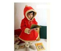 Wholesale Korean Kids Girls Model - Wholesale-Christmas winter models Korean version of Little Red Riding Hood's children's sweater baby kids girl coat