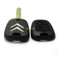 Wholesale Citroen Key Button - 2 Buttons Uncut Blade Remote Car Key Case Shell Fob Module Cover for Citroen C1 C2 C3 Saxo Xsara Picasso Berlingo