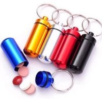 Melhor preço caixa Micro Pill Cache Container Geocache Geocaching anéis chave Keychain 50pcs BS10 titular vial 1119 # 19