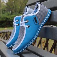 sapatas running do estilo coreano venda por atacado-HOT! Novo Coreano Sapatos Casuais estilo Inglaterra Moda Mens Respirável Sapatilhas de Fitness Esporte tênis de corrida Loafers net sapatos