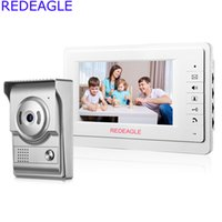 Wholesale Systems Video Free Wire - REDEAGLE Home Wired 7 inch LCD Video Door Phone Intercom System w  700TVL Color Doorbell Camera + 5M Cable Free Shipping