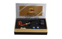 ingrosso fumo fumo e cig-E Pipe 618 sigaretta elettronica e sigaretta elettronica stile fumo sano tubo due Atomizzatori Clearomizers Vapour vaporizzatore