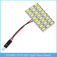 Wholesale Car Map Lights - 24 SMD 5730 LED Light Panel Board 12V Car Dome Interior Map Reading Lamp Light C143
