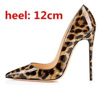 Wholesale Womens Sexy White Heels - Top Quality Sexy Women Pumps Leopard Shoes Women IRed Bottom High Heels Fashion Pointed Toe Womens Shoes With Heels Wedding Shoes 33-44