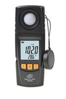medidor de temperatura de mano al por mayor-Temperatura de mano Luz Lux Meter luminómetro 2en1 girada sensor registrador de datos USB