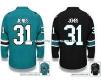 Wholesale Size 31 - Factory Outlet, Cheap Wholesale San Jose Sharks Martin Jones #31 Hockey Jersey Authentic (GREEN BLACK)Men's Martin Jones Sport Jersey,Size 4