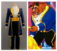Wholesale Halloween Prince Costume - Wholesale-Free shipping Beauty and the Beast Adult Costumes Prince Adam Cosplay Adam costume MALE halloween cosplay