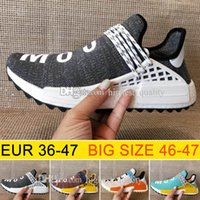 Atacado NMD Human Race Pharrell Williams Hu trail NERD Men Sapatos de corrida para mulheres NMD núcleo de tinta nobre Preto Red sports Shoes eur 36-47