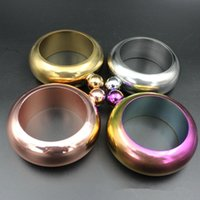 Wholesale Wholesale Vodka - 2017 Bangle Bracelet Hip Flask 3.5oz Stainless Steel Rainbow Liquid Alcohol Vodka Whiskey Drinkware Alcohol Funnel