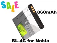Wholesale Iphone 4c - 890mAh Battery BL-4C BL 4C Battery BL4C For Nokia C2-05 2220 6100 6300 Replacement Batterie Batterij Bateria 15 country US ePaket 5pcs lot