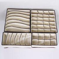 Wholesale Storage Box For Socks - Foldable Box Storage Box For Bra Underwear Briefs Necktie Socks 4 pcs A Set Free Shipping