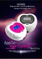 ingrosso mela 15-Mini arricciatura dei capelli di nuovo arrivo 110V, macchina perming dei capelli, forma di Apple, colore rosa, uscita 24V