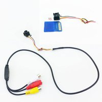 Wholesale Night Vision Smallest Cctv - New Smallest 4 LED Night Vision IR LED DIY CCTV Mini Pinhole Camera 600TVL CMOS with Mic