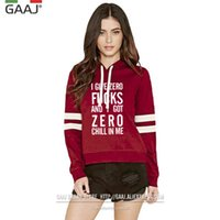 Wholesale American Apparel Xs - Ariana Grande Women Hoodies sweatshirts Brand Clothes Print Letter I Give Zero Casual High Quality Fashion American Apparel