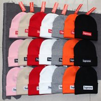 Wholesale Designed Beanies - Wholesale-New 2018 Autumn Winter Unisex wool hats fashion casual brand skullies & Beanies For Men and women Striped design Free Shipping