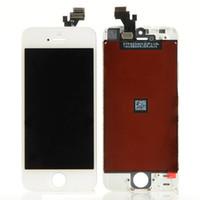 outils d'assemblage iphone achat en gros de-Vente en gros-blanche / noire 100% garantie A +++ Écran LCD pour Assemblée de numériseur d'écran tactile Iphone5 + Outils + Protecteur d'écran pour iPhone 5