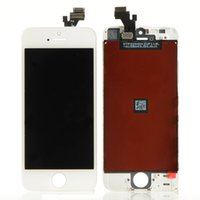 Wholesale Digitizer Iphone5 - Wholesale-White   Black 100% Guarantee A+++ LCD Display for Iphone5 Touch Screen Digitizer Assembly + Tools +Screen Protector for iPhone 5