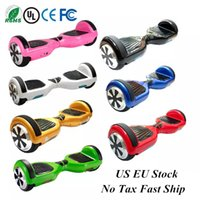 Wholesale Led Skateboard Wheels - US UK Stock LED Scooter Bluetooth Hoverboard Electric Scooter with LED Light Smart Balance Self Balancing Skateboard Fast No Tax Ship