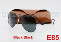 Wholesale Larger Women - 40pcs Designer Classic Pilot Sunglasses For Mens Womes Larger Sun Glasses Eyewear All Black 62mm Glass Lenses Metal With Better Brown Case