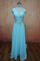Wholesale Empire One Shoulder Evening Dress - Prom Dresses Under 100 2015 Cheap One Shoulder Crystals Beaded Mint Green Chiffon Sheer Back Long Formal Occasion Party Evening Gowns