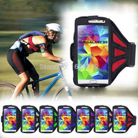 "Wholesale Jogging Cell Phone Holder - Wholesale-Running sport gym equipment Mesh Armband Bag for iPhone 6 PLUS LG G3 D855 5.5"" Jogging Arm Band arm cell phone holder"