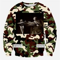 Wholesale Camouflage Graphics - w1208 Alisister 2015 new fashion mens camouflage hoodies printed 3d graphic sweatshirt character camouflage sweatshirts woman men top