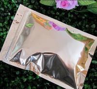 Wholesale Potpourri Bags - free shipping 16*24cm aluminum foil pouch flat zipper top foil zip bag potpourri aluminum pouch flat zipper food packing with powder bag