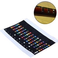 Wholesale Sticker Bows - Wholesale- Professional Guitar Scales Sticker Fretboard Note Strips Decal Trainer Learner