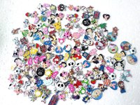 Wholesale Enamel Metal Pendants - 200 pcs Hot Sale Cartoon Mix looswe style zinc alloy metal enamel charms metal enamel pendant
