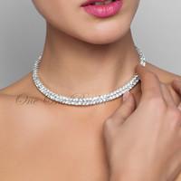 Wholesale Chunky Bridal Jewelry - High Quality Jewelry Necklace Bridal Jewelry Women Crystal Chain Choker Chunky Statement Bib Pendant Chain Necklace Bridal Jewelry Necklace