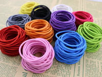 Wholesale Hair Products Girls - SALE! Certified Products 2016 New 4.5CM Hair Holder Rubber Bands Hair Elastic Accessories Girl Women Tie Gum 300PCS