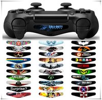 Wholesale Wholesale Led Light Bar Brands - New Brand and High Quality PVC Decal Skin Custom For Playstation 4 LED Light Bar Decal Sticker for PS4 Dualshock Controller