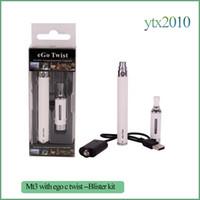 ingrosso avvitare il blister di avviamento-eGo-C Twist e Sigaretta Ego starter kit mt3 atomizzatore Sigaretta elettronica 650mAh 900mAh 1100mAh eGo-Twist Battery Kit Blister Pack