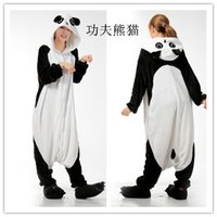 Wholesale Adult Onsie Pajamas - Mens Ladies Cartoon Panda Adult Animal Onesies Onsie Kigurumi Pyjamas Pajamas Jumpsuits C366 S M L XL XL