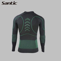 ycling Ciclismo Imposta SANTIC uomo intimo sportivo biancheria intima Undershirt Bike Ciclismo Arrampicata Suits in corso lungo Jersey Jacket Tigh ...
