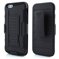 Wholesale Iphone Impact Case Black - For iphone 8 6 7 Plus Future Armor Impact Hybrid Hard Case Cover + Belt Clip Holster Kickstand Combo Silicone For iphone8 5