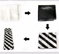 black magic group - silk group magic trick prop toy stage magic black white zebra silk magic props