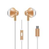 Wholesale Audio Moto - New Type C Earphones Moto Z Earbuds HTC U11 Type-C Headphones Hi-Fi Digital 3D Audio Without Mic for type-c Port Smartphone