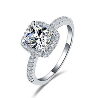 Wholesale Cheap Silver Rings Women - Latest Design Beautiful Cheap Engagement Rings for Women Hot Selling Exquisite Bridal Jewelry in Stock Factory Directly