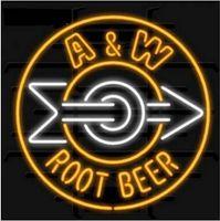 "Wholesale Root Beer - Arrow Root Beer Logo Neon Sign Bar Disco KTV Club Motel Custom Handcrafted Real Glass Tube Neon Advertisement Display Neon Signs 24""X24"""
