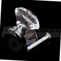 Wholesale 1pack Crystal Glass mm Diamond Shape Knob Cupboard Drawer Pull Handle New