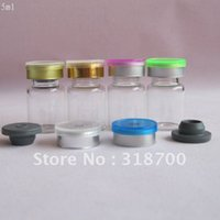 Wholesale Butyl Stopper - Free Shipping -5ml glass essence oil bottle +silicone butyl rubber stopper + flip off cap,3ml,5ml till 20ml is available
