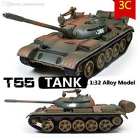 Wholesale Diecast Tanks - Wholesale-Military Model,1:32 alloy model t55 MBT tank,Metal tanks,Diecast cars,Good gift,free shipping