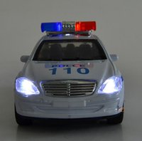 Wholesale Cool Toy Police Cars - Wholesale-Free shipping ! 2015 super cool !1 : 32 Pull Back sound and lights alloy car toy Police car Models,Children's best birthday
